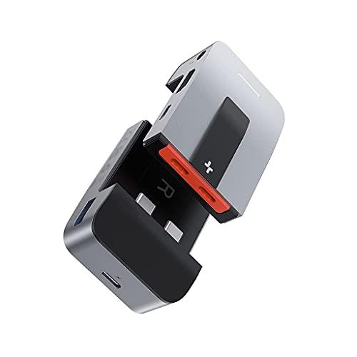 SBSNH USB C Hub to HDMI-Compatible USB 3.0 USB HUB DISTRITOR DE USB Combinado RJ45 9 en 1 Tipo C Hub