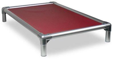 Kuranda All-Aluminum (Silver) Chewproof Dog Bed - XL (44x27) - 40 oz. Vinyl - Burgundy