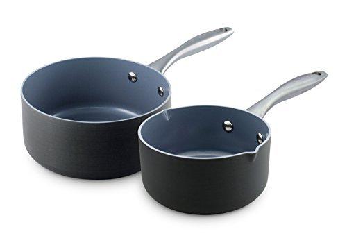 Cookware company GreenPan lima 2pezzo duro anodizzato ceramica padella antiaderente set by The