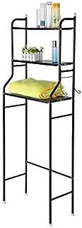 EBTOOLS Estanteria sobre Inodoro Baño, Estantería Auxiliar Compacta para Baño WC Organizador para Almacenamiento de Inodoro Estante de Almacenamiento con 3 Estantes, 151 x 56 x 25cm (Negro)