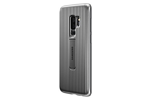 Samsung EF-RG965CSEGUS Galaxy S9+ Rugged Military Grade Protective Case with Kickstand, Silver