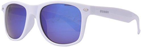 OCEAN zonneglas - Beach wayfarer - lunettes de soleil polarisÃBlackrolles - Montuur: Blanc LaquÃBlackroll - Verres : Revo Bleu (18202.85)