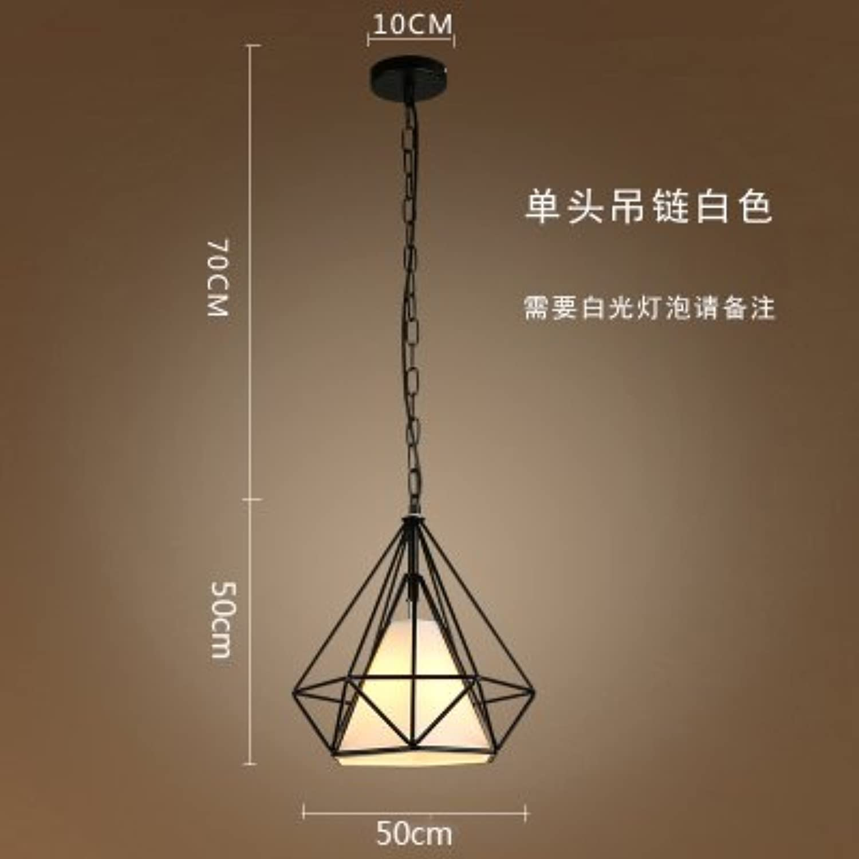 Luckyfree Kreative Moderne Mode Anhnger Leuchten Deckenleuchte Kronleuchter Schlafzimmer Wohnzimmer Küche, 50Cm schwarz Box Weiß Shield + Eisenkette warmes Licht