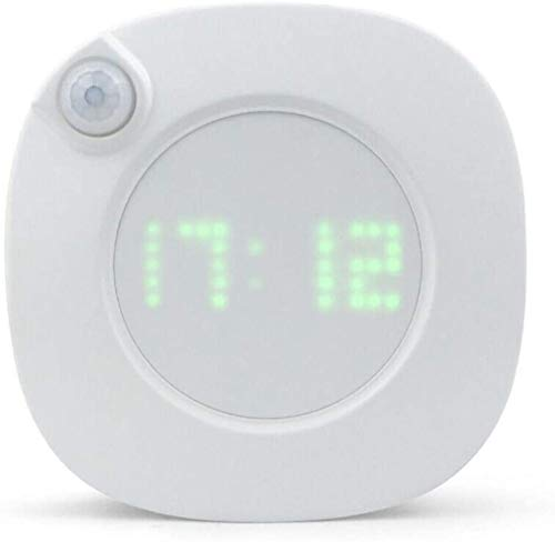 LED Digital Time Wall Clock With PIR Motion Sensor, Dimmable Brightness, Human Induction Light Intelligent Night Light for Home Hallway Stairway