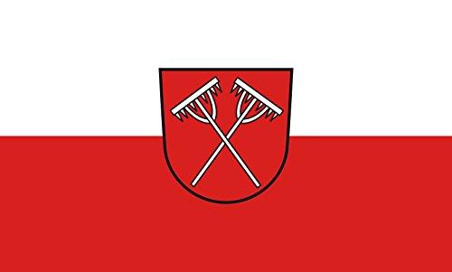 Unbekannt magFlags Tisch-Fahne/Tisch-Flagge: Dormettingen 15x25cm inkl. Tisch-Ständer