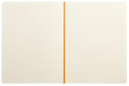 Rhodia Heritage Raw Binding Notebook, 190x250mm, Square ruling - Black Escher Photo #2