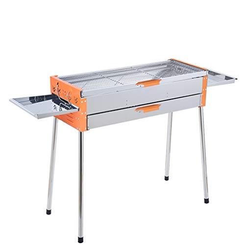 FEANG Grill Holzkohlegrill Edelstahl Folding Tragbare BBQ Werkzeugkits Für Outdoor-Kochen Camping Wandern Picknicks Rucksackparty
