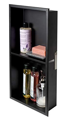 ALFI Brand ABNC1224-BLA - Alcachofa de ducha, color negro mate