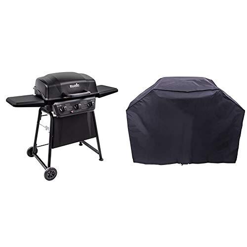 Char-Broil Classic 360 3-Burner Liquid Propane Gas Grill & 3-4 Burner Large Basic Grill Cover
