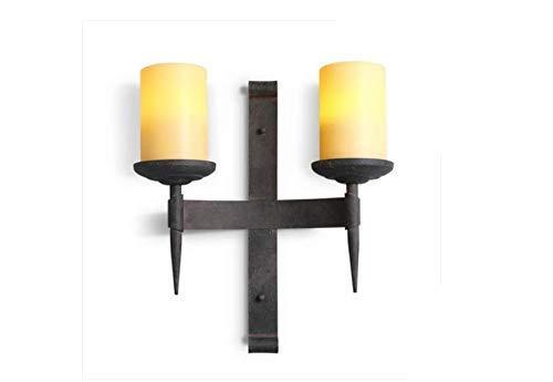 BOSSLV Lampes Murales de Lavage Lampes Lampes Murales Applique 440X485Mm Moyenne Double Tête Chandelier Américain en Fer Forgé Rétro