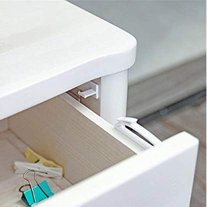 4 Pack bebé Cerraduras invisible de Seguridad Acceso Directo para Armario, Cajones...