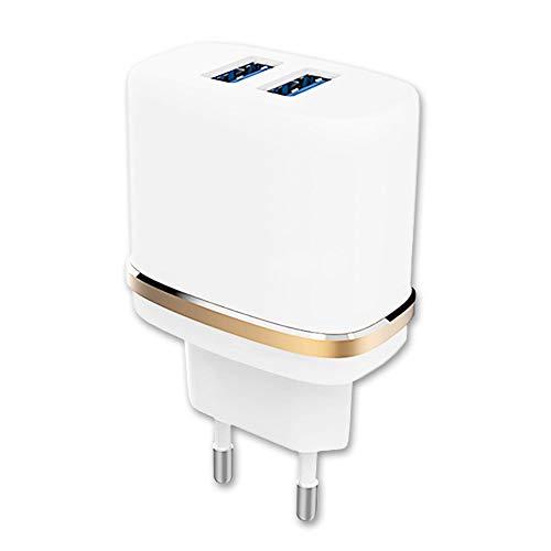 PH26 Chargeur Secteur pour Danew Surnaturel R500 by Rohff Chargeur Puissant et Rapide 2X USB 5V / 2,1A + 1A Soit 3.1A au Total, Dual-USB outputs Charger Rapidement et en Toute sécurité
