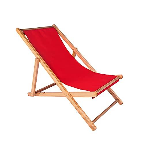 BJH Sillón de Oficina Silla Plegable Silla de Descanso para el Almuerzo Sofá de Ocio Sillas de jardín portátiles Sillas de Cubierta reclinables Madera Maciza