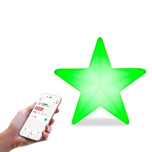 Lampada da Scrivania a Forma di Stella da Comodino, Alimentato Tramite USB, Lampada Decorativa a LED, Controllo Alexa Vioce, Tunable White e Cambio Colore RGB, Lampada da Comodino a LED