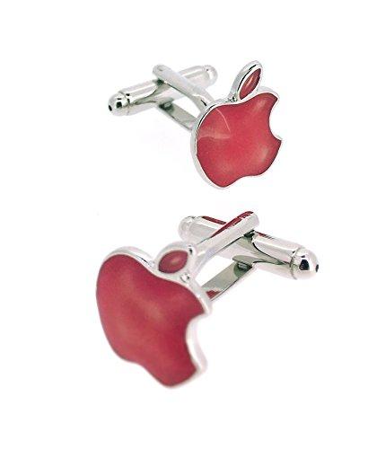 Gemelolandia Manschettenknöpfe Apple pink | pink | Geschenke für Hochzeiten, Kommunionen, Taufen und Andere Feierliche Anlässe