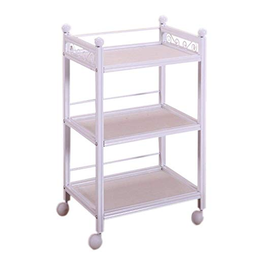 Hand Trolley Three Layer Wood Based Panel Beauty Trolley Simple Now Hook Flower Beauty Salon Hair Salon Special Trolley About 70 Kg Load Crystal