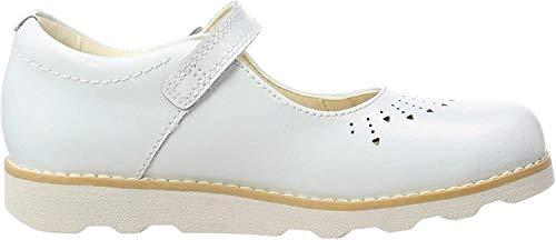 Clarks Crown Jump K, Mocasines Niñas, Blanco White