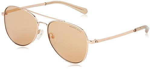 Michael Kors Damen 0MK1045 Sonnenbrille, Schwarz (Rose Gold), 56