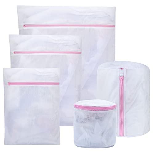 Bolsa para Lavadora-Bolsa de lavanderia resistentes,con Cremallera para Lavadora para delicat blusas sujetadores medias ropa interior y ropa de bebé (Blanco b)