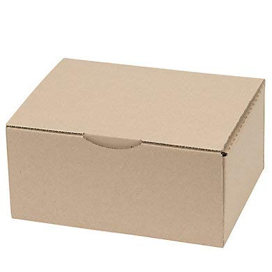 Lot de 25 Boîtes postales brunes 200x140x75 mm