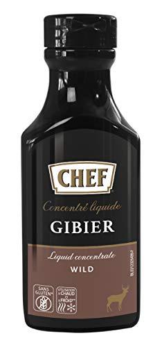 CHEF Flüssiges Konzentrat Wild, Geschmacksboost für Herzhafte Fleischgerichte, 100% Natürlicher Geschmack, 1er Pack (1 x 200ml)