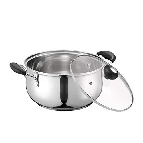 Ménage En Acier Inoxydable Pot À Lait Pot À Lait Double Fond Pot 22cm Grande Capacité Soupe Lait Pot Cuisinière À Induction Universel