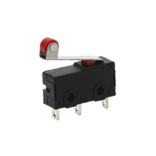 QHMDZ Limit Switch 10 Piezas de Mini Límite Micro Interruptor de Rodillo del Brazo de Palanca SPDT de acción rápida Lot (Voltage : 10pcs)