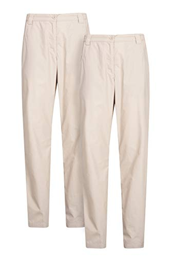 Mountain Warehouse Quest Pantalones para Mujer - Ligeros, de Verano, Transpirables, Ropa de fácil Cuidado para Exteriores - Lo Mejor para Caminar, Viajes, Senderismo Beige 46