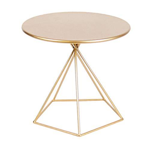 Mesa Auxiliar Tabla de la mesa de la bandeja redonda Tabla de sofá Mesa pequeña redonda TAJAS METAL TABLE TABLA DE METÁNICO ACCENT MESA DE CAFÉ DE CAFERA AIRNUDO Y INTERIOR MESA - (H) 53 x (D) 55 cm