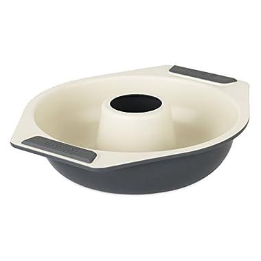 Viking 4040-3009-CGY Ceramic Nonstick Bakeware Bundt Cake Pan, 9 Inch