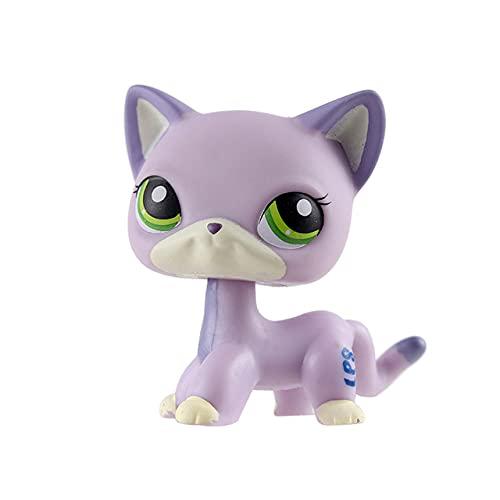 YJRIC Tienda de Mascotas Lps Toys Personajes de pie Rare CatGray Blue Eye Character Model Collection Juguetes de Regalo para niños, 12