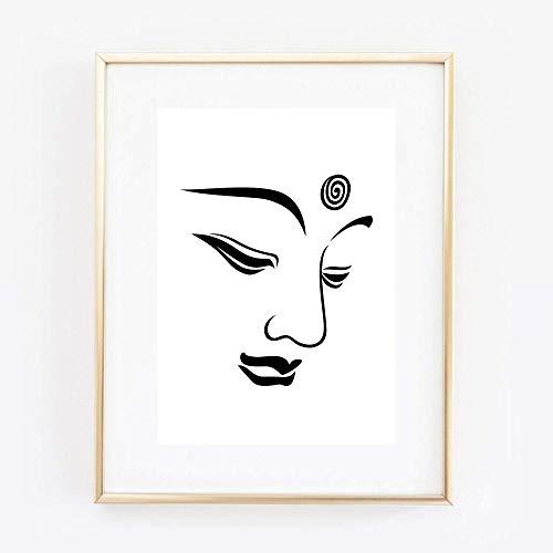 Din A4 Kunstdruck ungerahmt Buddha Zen Meditation Yoga Buddhismus Silhouette Modern Druck Poster Bild