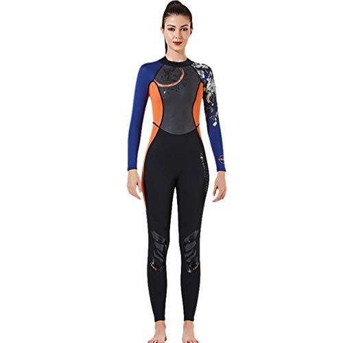 YuanDian Hombre Mujer 3MM/1.5MM Traje de Buceo Traje de Neopreno Protección Solar Traje de Baño Surf Natación Snorkeling Trajes De Submarinismo Wetsuit 1# Mujer Naranja 3MM Asiático S/EU XS
