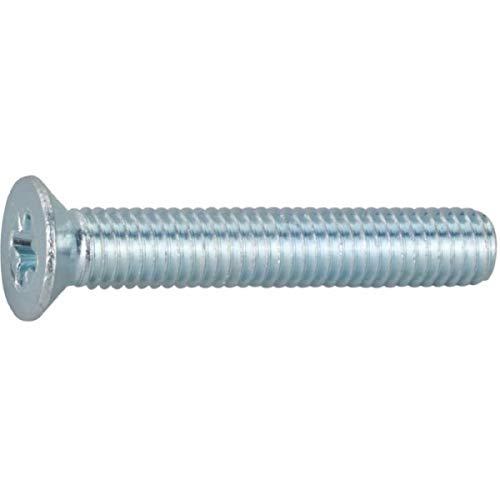 Vis métaux tête fraisé PZ2 - Ø 5 mm - 40 mm - Zingué blanc - Boîte de 200 pièces - Vissal