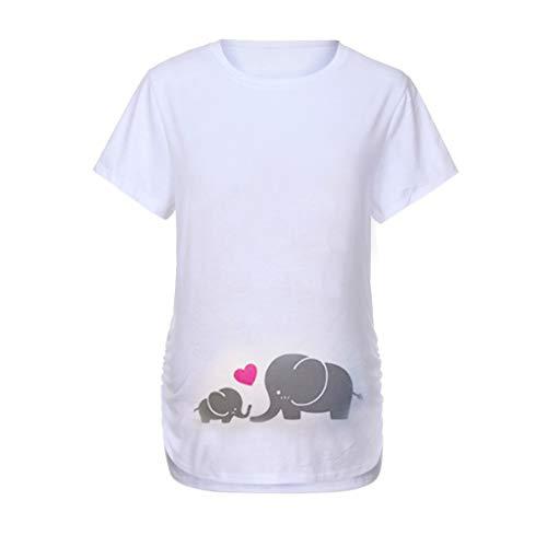 FRAUIT Maglia Premaman Divertenti Manica Corta T Shirt maternità Premaman Magliette Gravidanza Casual Camicetta Costume Gravidanza per Primavera Estate Inverno