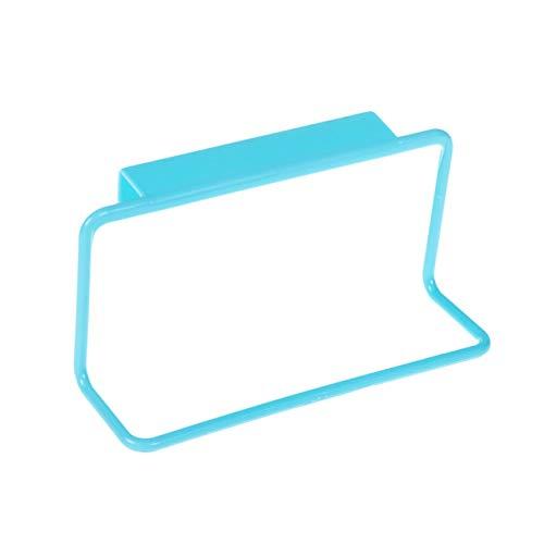 ShenZhenShiJinZhiWeiKeJiYouXianGongSis Toallero Bar Soporte para Colgar Organizador de rieles Armario de baño Colgador de Armario Accesorios de Cocina Soporte de Estante de Almacenamiento - Azul