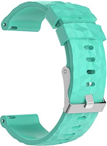 Chainfo Bracelete compatível com Suunto 9/7 / D5i / TRAVERSE/Spartan Sport Wrist HR Baro Bracelete Para Relógio, Bracelete Ajustável de Reposição Bracelete desportiva de Silicone (Pattern 1)