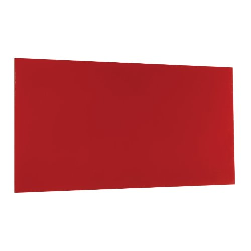STEELMASTER Magnetic Board with Dry-Erase Pad, Pen and Magnets, 14 x 30 Inches, Red (270163007)