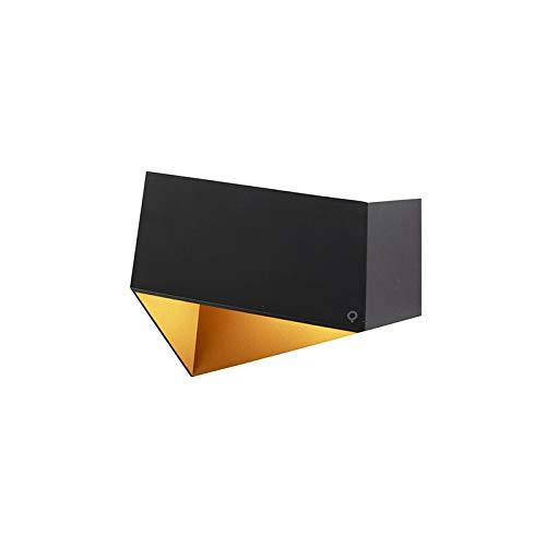 QAZQA Diseño Aplique diseño negro/oro - FOLD Aluminio