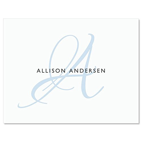 Simply Initial Personalized Note Cards by Colorful Images (Set of 12 Cards with White Envelopes)