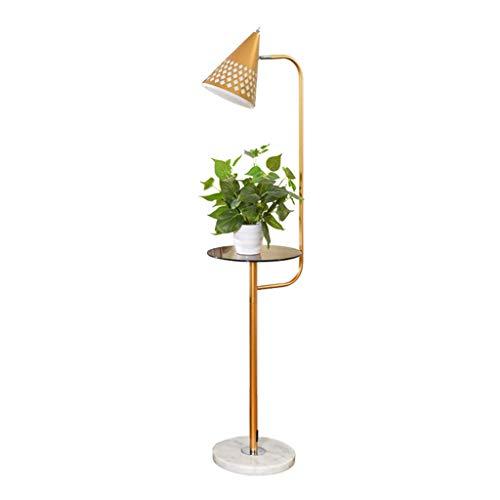 Lampes de chevet Lampadaire Salon Canapé Table Basse Chambre Nordic Simple Moderne Créatif Vertical Lampe De Table (Color : Gold, Size : 30 * 140cm)