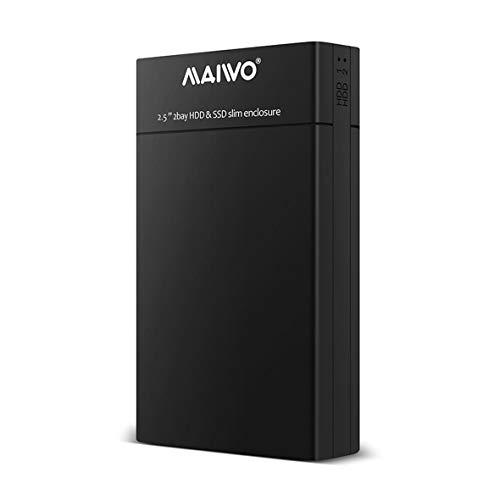 Heaviesk K25682 2,5 Zoll Dual Bay HDD SSD Slim Enclosure USB3.0 Speicher Externe Festplatte für Desktop- und Laptop-Festplatte