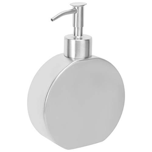 Cabilock Küchenspenderpumpe Bad Edelstahl Arbeitsplatte Lotionsspender Flüssigkeitsflasche Handwaschpumpe Flasche 390Ml
