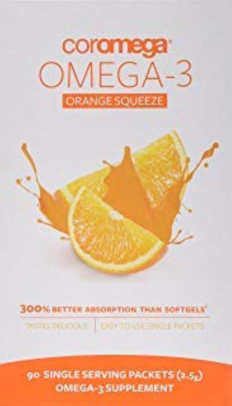 是正執着おじいちゃんCoromega Omega-3 Orange Squeeze 90パック 海外直送品