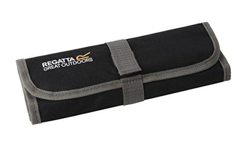 Regatta Unisex's Cutlery Set-Black/Seal Grey, 4 Persons