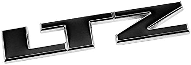 UrMarketOutlet LTZ Black/Chrome Aluminum Alloy Auto Trunk Door Fender Bumper Badge Decal Emblem Adhesive Tape Sticker