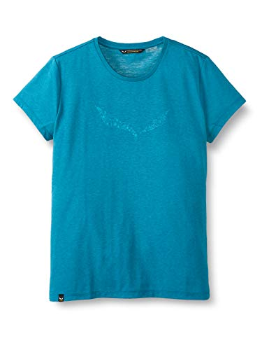 Salewa 00-0000027019_8736 T-Shirt Femme, Malta Melange, FR : L (Taille Fabricant : 46/40)