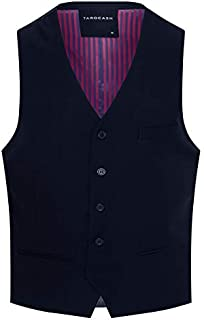 Tarocash Men's Dylan Waistcoat Polyester Blend Regular Fit Sizes XS-5XL for Going Out Smart Occasionwear Formalwear Vests