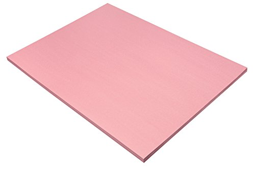 SunWorks Heavyweight Construction Paper, 18 x 24 Inches, Pink, Pack of 50