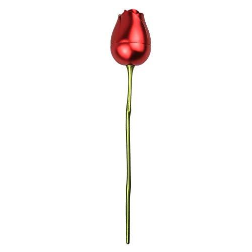 Sharplace Caja de joyería Rosa Anillo Decorativo Caja de Almacenamiento Protectora cumpleaños de Boda cumpleaños de San Valentín Regalo Creativo - Sin Paquete